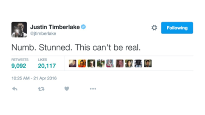 042116-celebs-celebs-reacts-to-prince-justin-timberlake